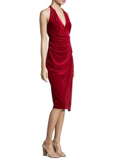 Belecia Velvet Halter Dress