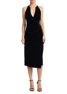Elie Tahari Belecia Velvet Wrap Dress