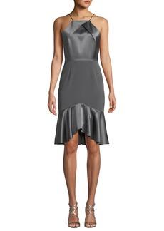 Elie Tahari Bella High-Low Satin Cocktail Dress