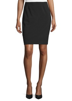 Elie Tahari Bennet Short Pencil Skirt  Black
