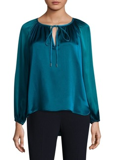 Elie Tahari Bishop-Sleeve Silk Blouse