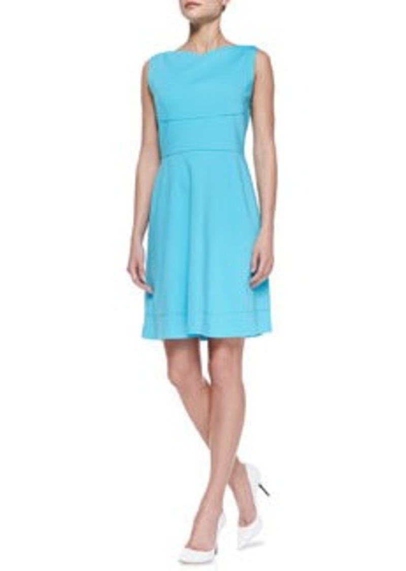 Elie Tahari Callie Sleeveless Flared-Skirt Dress   Callie Sleeveless Flared-Skirt Dress