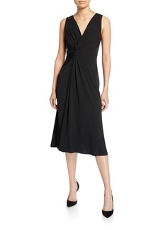 Elie Tahari Camile Sleeveless Twist-Front Dress