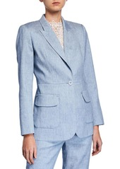 Elie Tahari Camy One-Button Jacket
