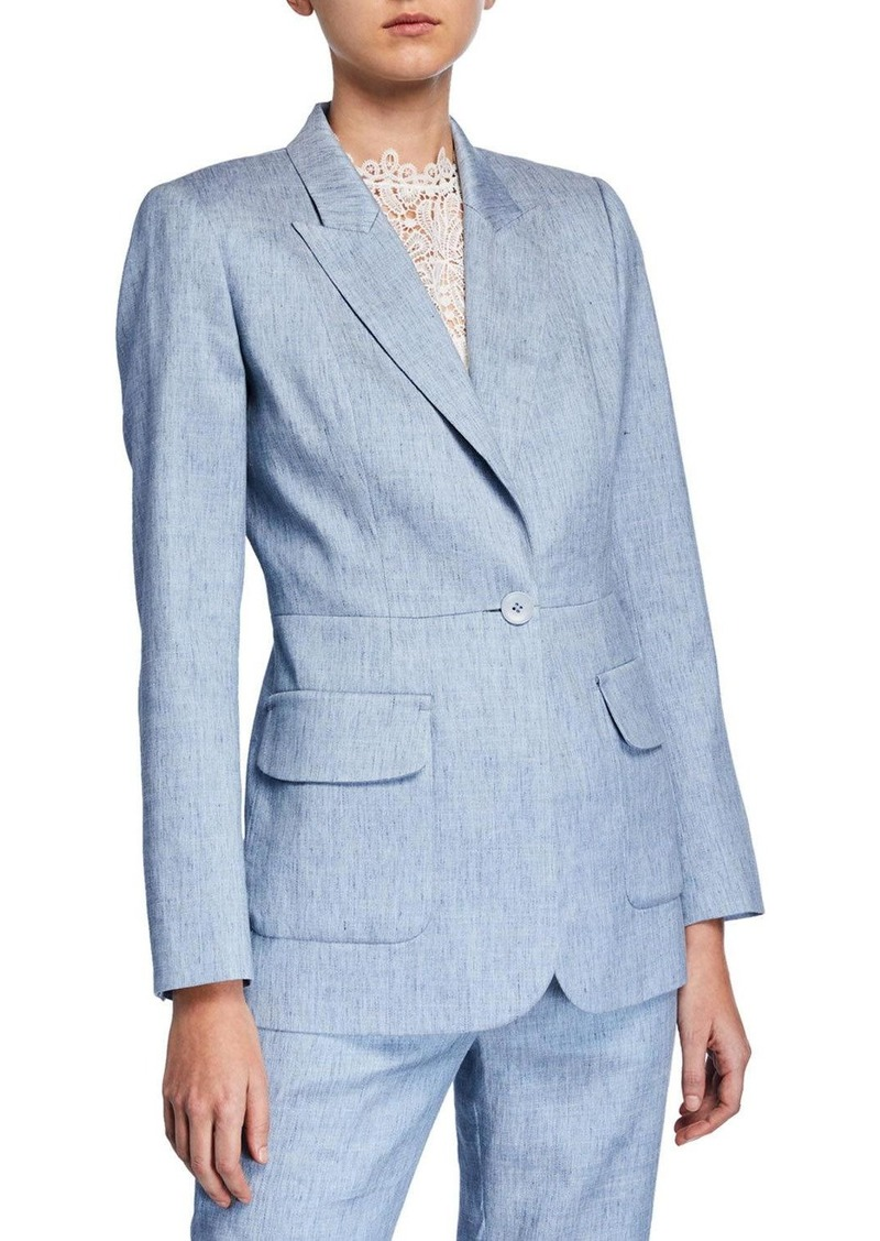 Elie Tahari Camy One-Button Jacket