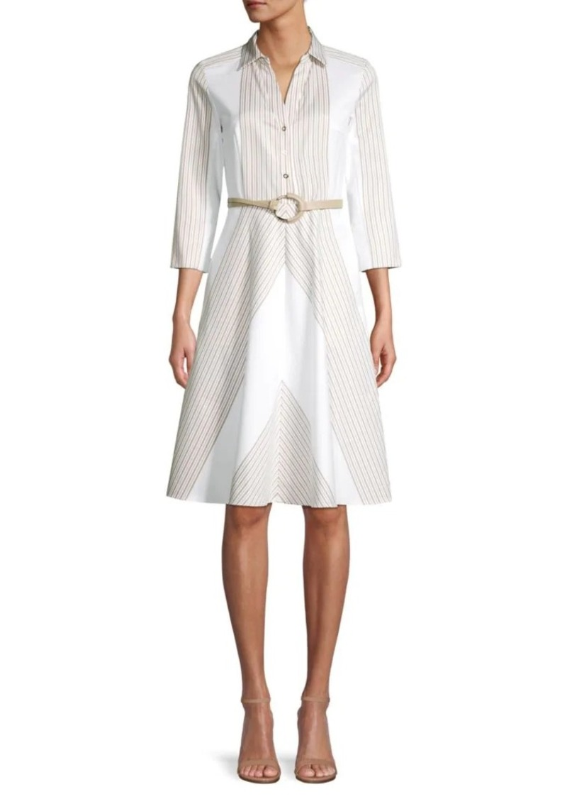 Elie Tahari Candence Belted Midi Dress