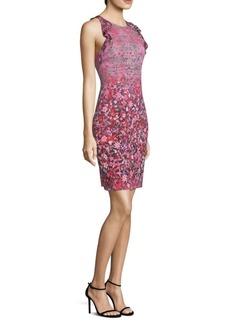 Elie Tahari Carelle Floral Sheath Dress