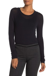 Elie Tahari Carly Wool Blend Raglan Sweater