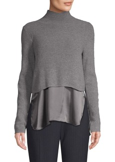 Elie Tahari Casper Cashmere & Silk Hem Sweater