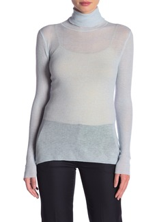 Elie Tahari Chatham Wool Blend Ribbed Sweater