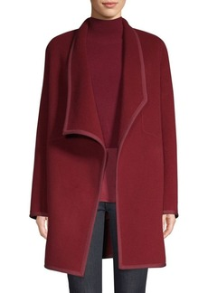 Elie Tahari Christina Double Face Wool Car Coat