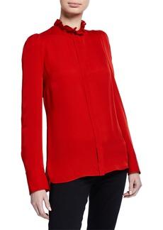 Elie Tahari Ciara Long-Sleeve Silk Blouse