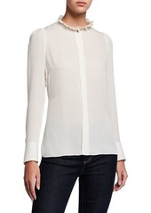 Elie Tahari Ciara Long-Sleeve Silk Blouse