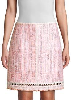 Elie Tahari Cochi Tweed A-Line Skirt
