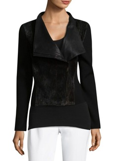 Elie Tahari Courtney Wool-Blend Jacket