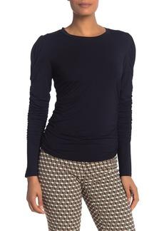 Elie Tahari Daisy Knit Puff Shoulder Top
