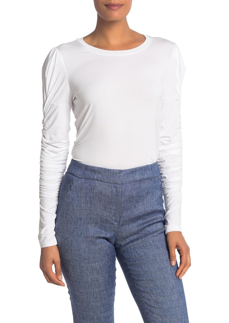 Elie Tahari Daisy Knit Puff Shoulder Top