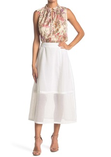 Elie Tahari Daisy Textured Midi Skirt