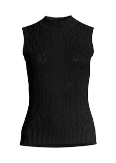 Elie Tahari Dani Cable Knit Top