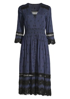 Elie Tahari Darci Mosaic Cotton Dress