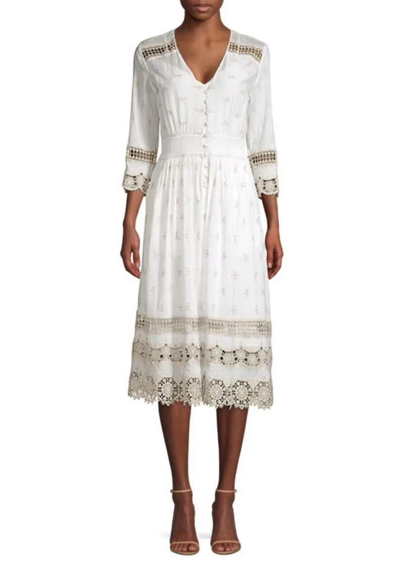 Elie Tahari Darci Mosaic Cotton Dress