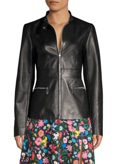Elie Tahari Deepa Leather Jacket