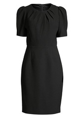 Elie Tahari Delphine Puff-Sleeve Sheath Dress