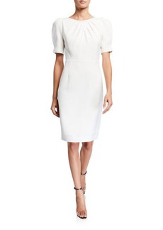 Elie Tahari Delphine Short-Sleeve Sheath Dress