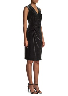 Elie Tahari Dolly Velvet Sheath Dress