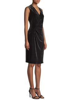 Elie Tahari Dolly Velvet Sheath Dress