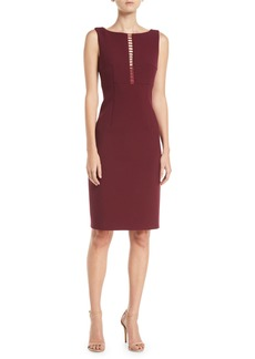 Elie Tahari Doreen Ladder Stitch-Inset Dress