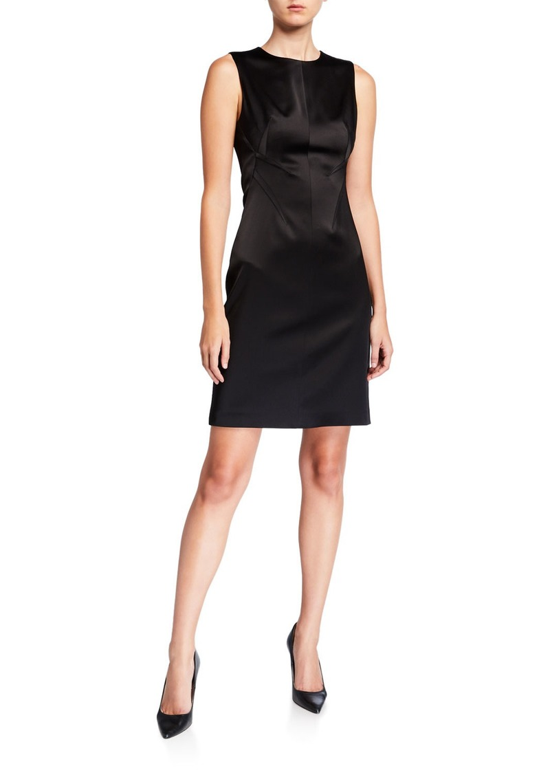 Elie Tahari Dorit Sleeveless Satin Dress