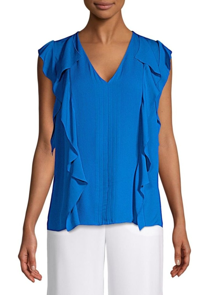 Elie Tahari Dovie Silk Ruffle Blouse
