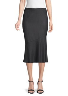 Elie Tahari Eavanna Fluted Hem Brushed Wool Skirt