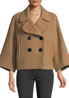 Elie Tahari Edna Double-Breasted Wool Jacket