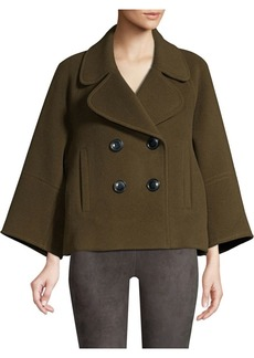 Elie Tahari Edna Double Face Wool Pea Coat