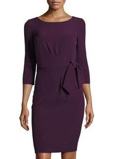 Elie Tahari 3/4-Sleeve Sheath Dress with Self-Tie