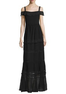 Elie Tahari Flora Off-the-Shoulder Tiered Maxi Dress