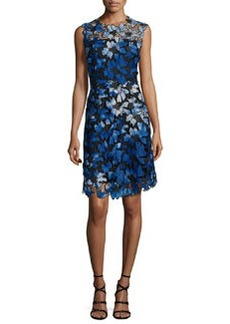 Elie Tahari Kaisa Sleeveless Jewel-Neck Floral Lace Dress