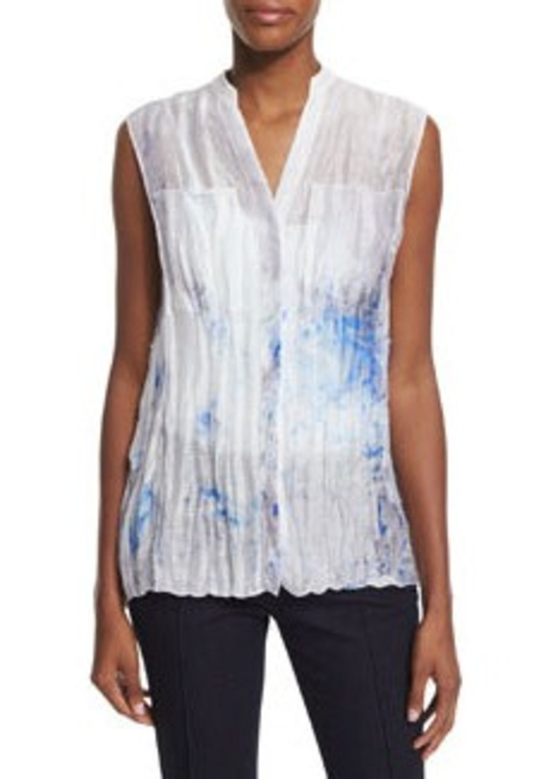 Elie Tahari Enya Sleeveless Printed Blouse