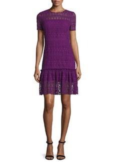 Elie Tahari Jacey Lace Short-Sleeve Dress