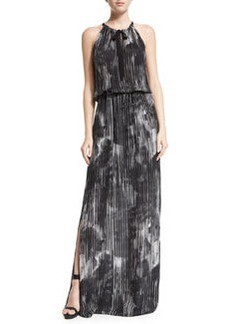 Elie Tahari York Halter Striped Maxi Dress
