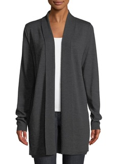 Elie Tahari Adele Shawl-Collar Merino & Silk Cardigan Sweater