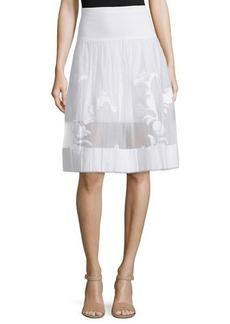Elie Tahari Adrina Organza Skirt