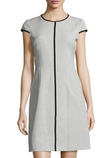 Elie Tahari Agatha Contrast-Piping Dress