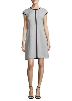 Elie Tahari Agatha Embroidered Sheath Dress
