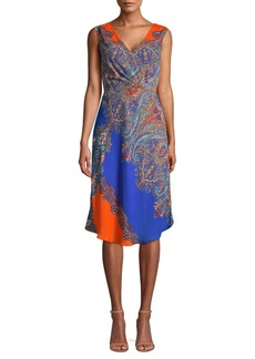 Elie Tahari Agatha Paisley Print Shift Dress
