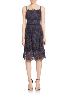 Elie Tahari Aimee Lace A-Line Dress