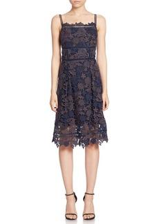 Elie Tahari Aimee Lace A-Line Dress
