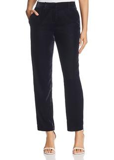 Elie Tahari Alanis Crop Velvet Pants - 100% Bloomingdale's